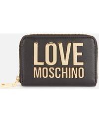 Love Moschino Small Logo Wallet - Black