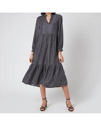 Whistles Denim Trapeze Dress - Black
