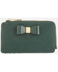 Ted Baker Blueb Bow Detail Card Holder - Green