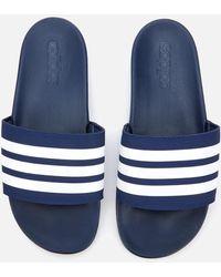 adidas Adilette Comfort Slide Sandals - Blue