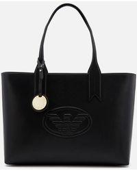 Emporio Armani Freda Logo Eagle Tote Bag - Black