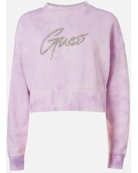 Guess Lucina Fleece Sweatshirt - Purple