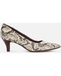 Clarks Linvale Jerica Kitten Heels - Gray