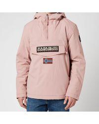 Napapijri Rainforest Winter 2 Hooded Anorak Jacket - Pink