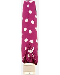 Radley Vintage Dog Dot Mini Telescopic Umbrella - Pink
