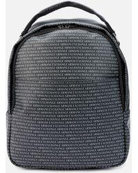 Armani Exchange All Over Print Backpack - Black