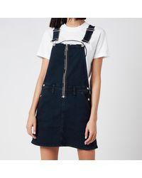 Calvin Klein Dungaree Dress Zip - Blue