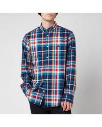 GANT Tech Prep Regular Fit Plaid Oxford Shirt - Green