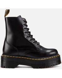 Dr. Martens - Jadon Polished Smooth Leather 8-eye Boots - Lyst