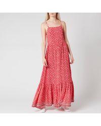 Tommy Hilfiger Tjw Floral Maxi Strap Dress - Red