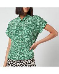 Whistles Giraffe Animal Pocket Shirt - Green