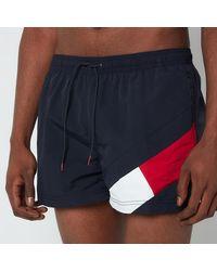 Tommy Hilfiger Short Length Drawstring Swimshorts - Blue