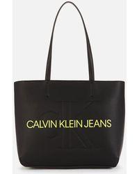 Calvin Klein Sculpted Shopper 29 Mono Bag - Black