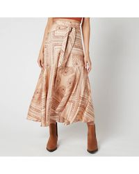 Free People Hampton Wrap Skirt - Multicolor