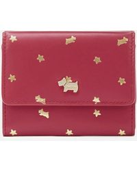 Radley Ditsy Dog Foil Small Trifold Purse - Red