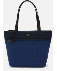 Radley Penton Mews Colour Block Large Ziptop Tote Bag - Blue