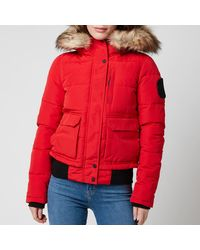 Superdry Everest Bomber Jacket - Red