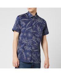 Ted Baker Damiem Short Sleeve Shirt - Blue