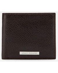 Armani Exchange Bifold Wallet With Credit Card Holder - Black