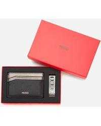 HUGO Gbhm214_s Card Case Mclip Gift Set - Black