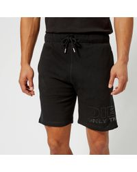 DIESEL - Pan Sweat Shorts - Lyst
