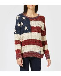 Superdry - Americana Cable Knit Jumper - Lyst