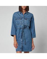 Levi's Ainsley Utility Denim Dress - Blue