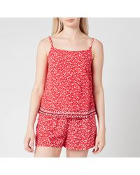 Tommy Hilfiger Tjw Embroidery Strap Top - Red