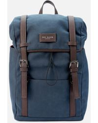 Ted Baker Zafron Faux Nubuck Backpack - Blue