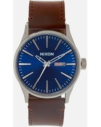Nixon The Sentry Leather Watch - Multicolour