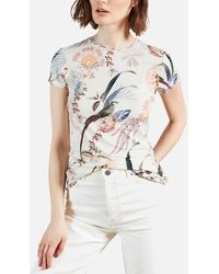 Ted Baker Jerikko Decadence Print Fitted T-shirt - White