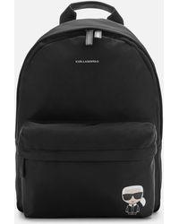 Karl Lagerfeld K/ikonik Nylon Backpack - Black