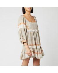 Free People Cosy Striped Mini Dress - Natural