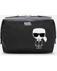 Karl Lagerfeld Women's Travel Makeup Beauty Case K/ikonik - Black
