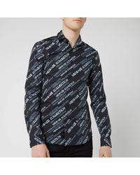 Versace All Over Neon Print Shirt - Black