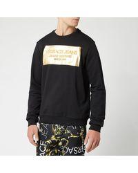 Versace Jeans - Foil Logo Sweatshirt - Lyst