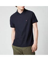 Tommy Hilfiger 1985 Contrast Placket Slim Fit Polo Shirt - Blue