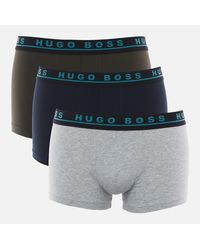 BOSS by Hugo Boss 3 Pack Trunks - Grey