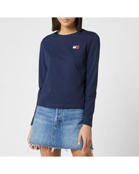 Tommy Hilfiger Tommy Badge Long Sleeve Top - Blue
