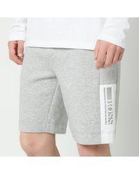 BOSS by HUGO BOSS Boss Athleisure Hedlo 1 Jersey Shorts - Grey