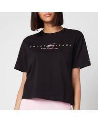 Tommy Hilfiger Tjw Bxy Crop Modern Logo T-shirt - Black