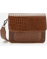 Hvisk Cayman Pocket Cross Body Bag - Brown