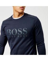 BOSS Green - Salbo Logo Sweatshirt - Lyst