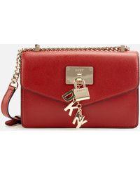 DKNY Elissa Small Shoulder Flap Bag - Red