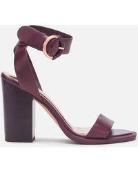 Ted Baker Betciy Block Heeled Sandals - Purple