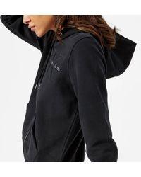 Calvin Klein - Holt Hooded Zip Through Top - Lyst