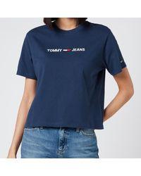 Tommy Hilfiger Modern Linear Logo T-shirt - Blue