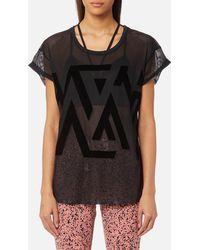 Reebok - Mesh Short Sleeved T-shirt - Lyst