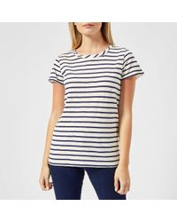 Joules - Nessa Stripe Jersey T-shirt - Lyst