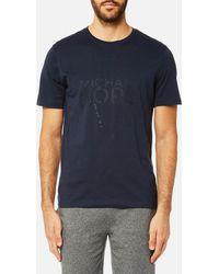 Michael Kors - New York Map Logo Graphic Short Sleeve T-shirt - Lyst